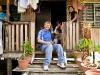 I en watervillage i Kota Kinabalu