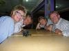 Mette, meg, Morten og Geir på favorittrestauranten vår i Papar