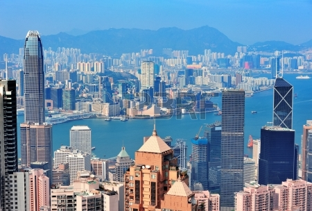 14361073-hong-kong-aerial-view-panorama-with-urban-skyscrapers-and-sea