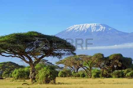37376343-snow-on-top-of-mount-kilimanjaro-in-amboseli