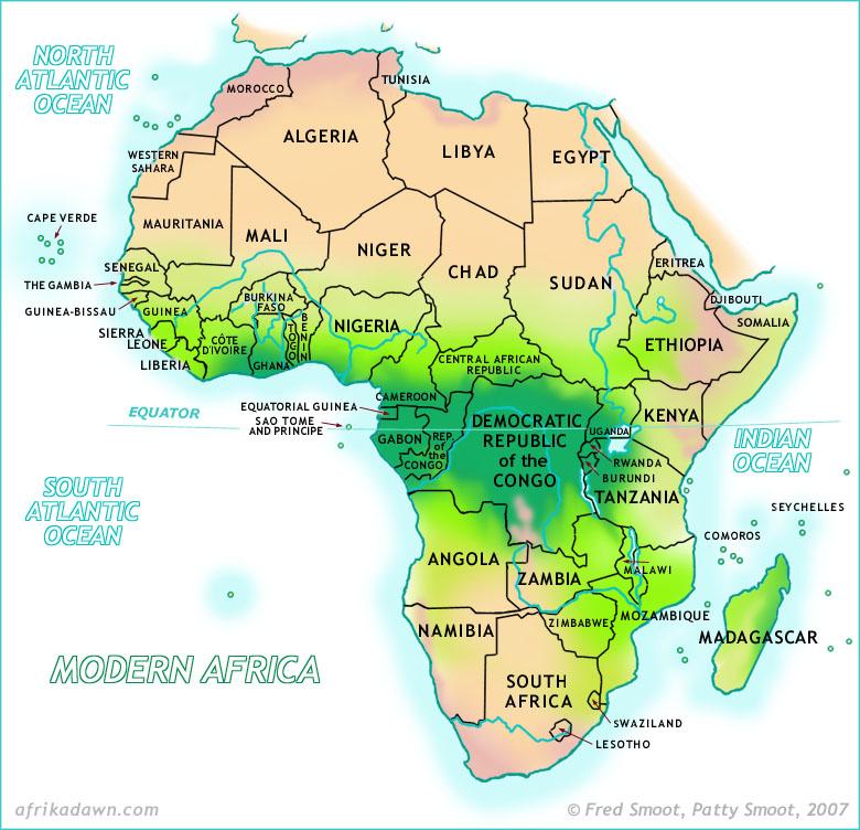 afrika kart med land Afrika | Svennie afrika kart med land
