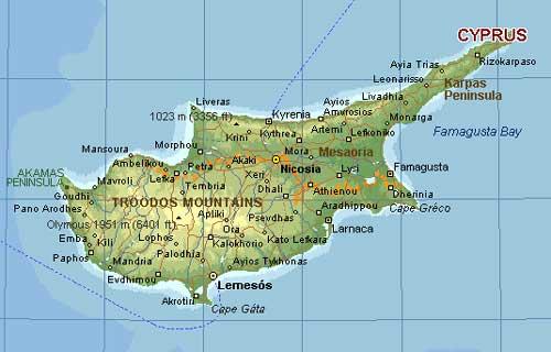 kypros kart Nord Kypros Kart | Kart