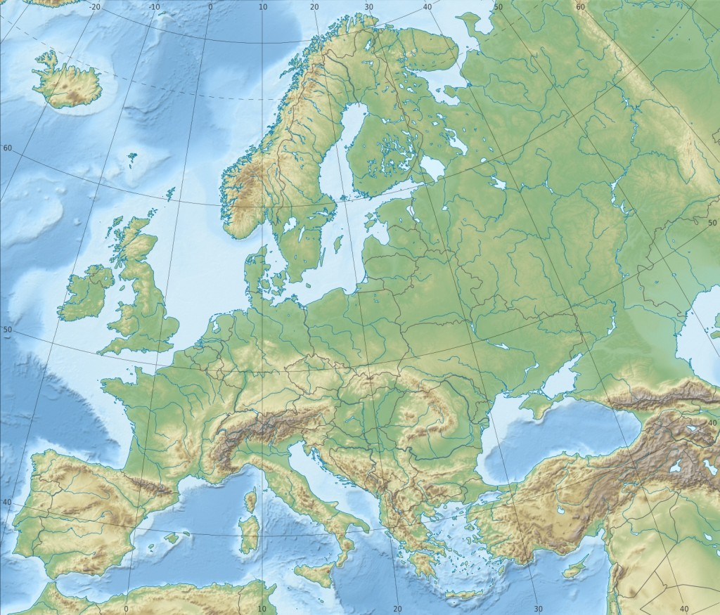 europa kart elver Superfakta om Europa | Svennie europa kart elver